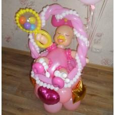 Девочка из шаров на выписку из роддома
