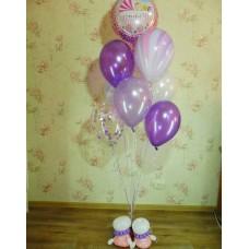 Гелиевые шарики для выписки Девочке