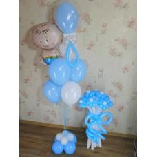 Комплект воздушных шаров на выписку мальчика