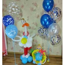 Композиция на выписку из шаров