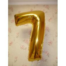 Фольгированная цифра семь.