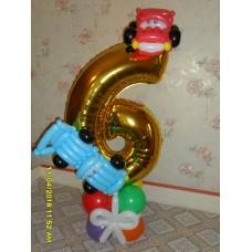 Цифра из шаров для мальчика
