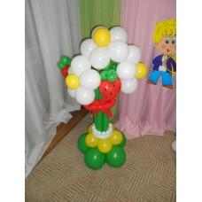 Украшение шарами Цветы из шаров