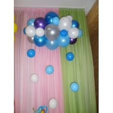 Украшение шарами Тучка из шаров