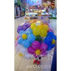 Букет из шариков разноцветные Ромашки