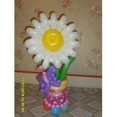 Букет из шариков Цветочек в горшочке