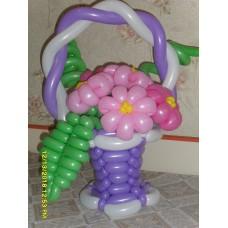 Букет из шариков в корзинке