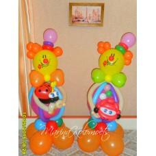Букет из шаров Два клоуна