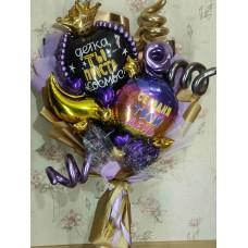 Букет из шаров Фиолетовый каприз
