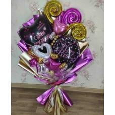 Букет из шаров Фиолетовый Восторг