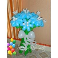 Букет из шаров Голубые ромашки