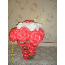 Букет из шаров Красно-белые розы
