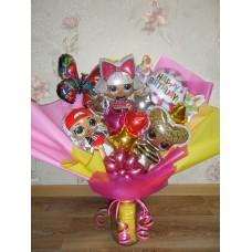 Букет из шаров Куколка с Конфеткой