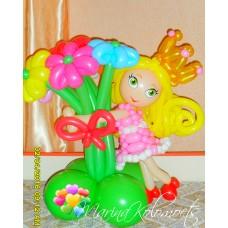 Букет из шаров Куколка в Короне