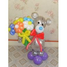 Букет из шаров Мишка Тедди