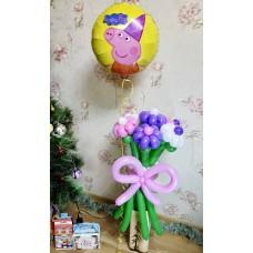 Букет из шаров Peppa Pig