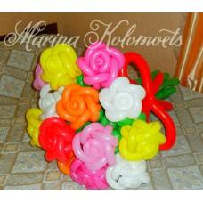 Букет из шаров Разноцветные Розы