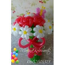 Букет из шаров Ромашки и Розы