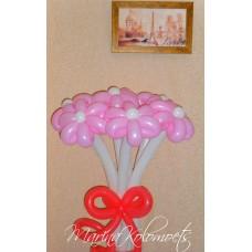 Букет из шаров Ромашки розовые