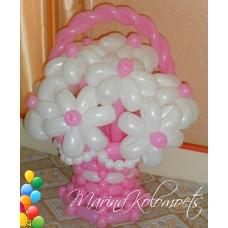 Букет из шаров Розовая корзина