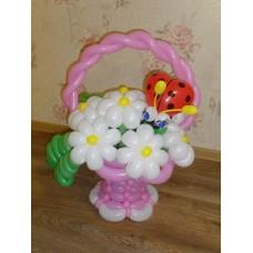 Букет из шаров Розовая Корзинка