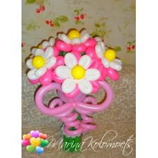 Букет из шаров Розово-Белые