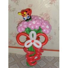 Букет из шаров Розовые ромашки