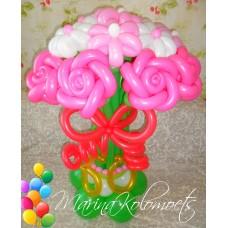 Букет из шаров Розовые Розы