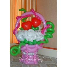 Букет из шаров Розы и Сердечки