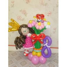Букет из шаров с Девочкой