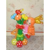 Букет из шаров с Куколкой