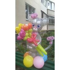 Букет из шаров Серая Кошка