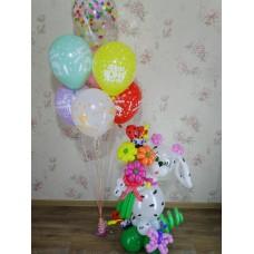 Букет из шаров Собачка Для девочки