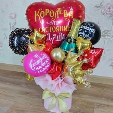 Букет из шаров в коробке Королева