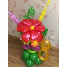 Букет из шаров Восторг на Подставке