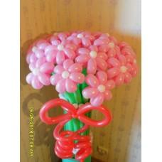 Букет розовые ромашки из шаров