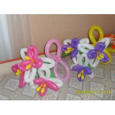 Букеты из шаров Лилии