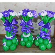 Букеты из шаров на подставке