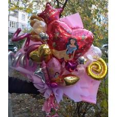 Крафтовый букет шаров Белоснежка