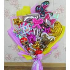 Крафтовый букет шаров девочке 7 лет