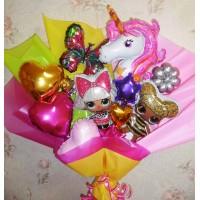 Крафтовый букет шаров Единорожки