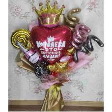 Крафтовый букет шаров Королева