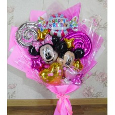 Крафтовый букет шаров Mickey Mouse