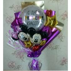 Крафтовый букет шаров Микки Маус