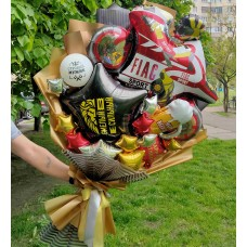 Крафтовый букет шаров Мужчине