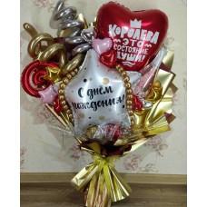 Крафтовый букет шаров My Heart