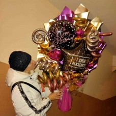 Крафтовый букет шаров Purple