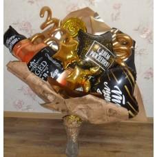 Крафтовый букет шаров С Днем Рождения