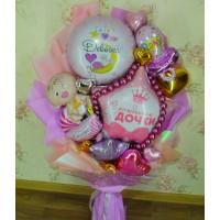 Крафтовый букет шаров в Роддом