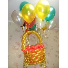 Летающая корзина из шаров